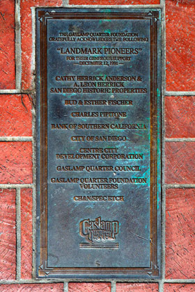 Pioneers of the Historic Gaslamp Quarter